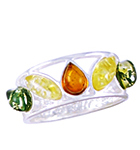 Amber & Silver Ring Art.ASR055