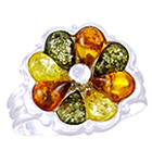 Amber & Silver Ring Art.ASR060