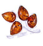 Amber & Silver Ring Art.ASR063