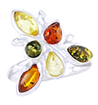 Amber & Silver Ring Art.ASR058