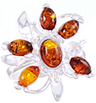 Amber & Silver Ring Art.ASR064
