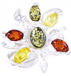 Amber & Silver Ring Art.ASR065