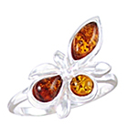 Amber & Silver Ring Art.ASR068
