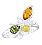 Amber & Silver Ring Art.ASR067