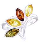 Amber & Silver Ring Art.ASR070