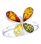 Amber & Silver Ring Art.ASR072