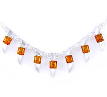 Amber & Silver Necklace Art.ASN003
