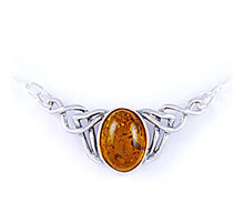 Amber & Silver Necklace Art.ASN004