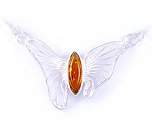 Amber & Silver Necklace Art.ASN008