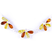 Amber & Silver Necklace Art.ASN013
