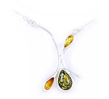 Amber & Silver Necklace Art.ASN015