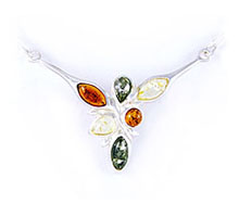 Amber & Silver Necklace Art.ASN017