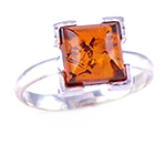 Amber & Silver Ring Art.ASR012