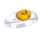 Amber & Silver Ring Art.ASR007