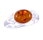 Amber & Silver Ring Art.ASR009