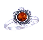 Amber & Silver Ring Art.ASR014
