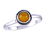 Amber & Silver Ring Art.ASR015