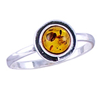 Amber & Silver Ring Art.ASR016
