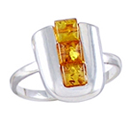 Amber & Silver Ring Art.ASR002