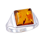 Amber & Silver Ring Art.ASR006