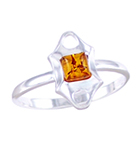 Amber & Silver Ring Art.ASR019