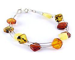 Baltic Amber Beads Bracelet Art.BA601