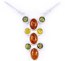 Amber & Silver Necklace Art.ASN001