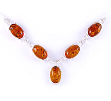 Amber & Silver Necklace Art.ASN006