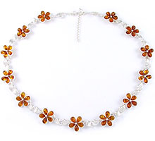Amber & Silver Necklace Art.ASN011