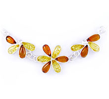 Amber & Silver Necklace Art.ASN012