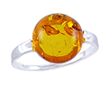Amber & Silver Ring Art.ASR011