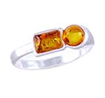 Amber & Silver Ring Art.ASR008