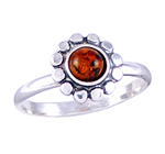 Amber & Silver Ring Art.ASR013