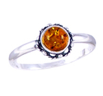 Amber & Silver Ring Art.ASR018