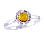 Amber & Silver Ring Art.ASR017