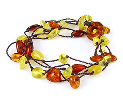 Baltic Amber Beads Bracelet Art.BA602