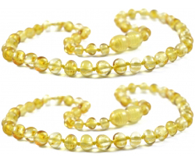 2 Pieces Lemon Baroque Beads Baltic Amber Teething Necklace