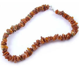 raw healing amber necklace for adults
